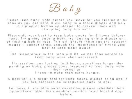 Whitby Newborn Photographer - Preparing for your Newborn Session
