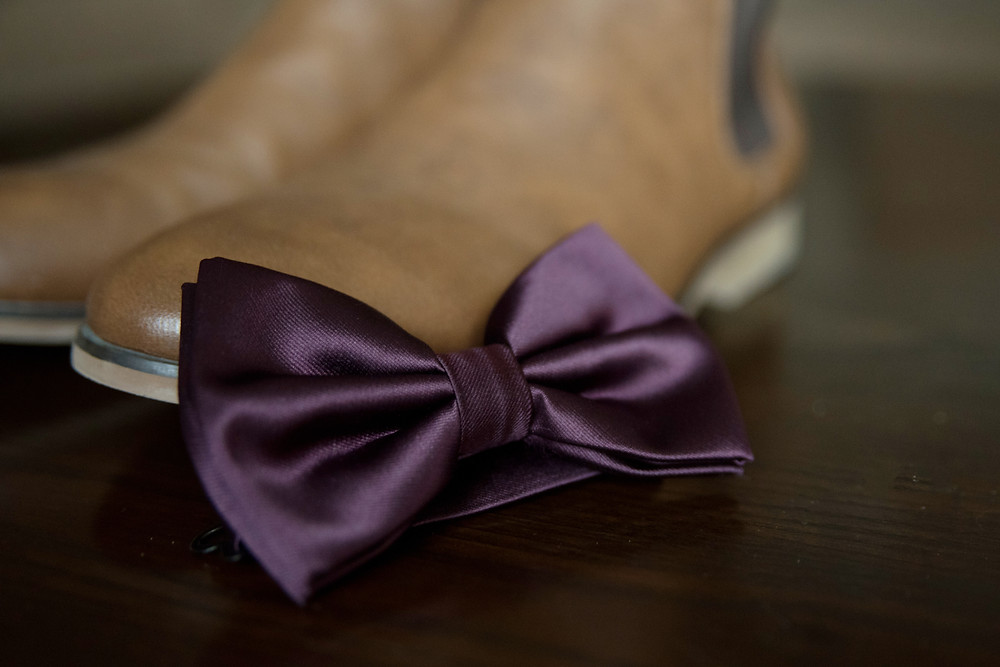 Bride Details, bow tie and shoes