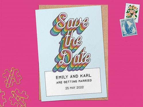 Rainbow YAY Save the Date