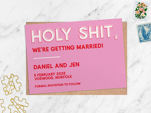 Holy Shit Save the Date | Personalised