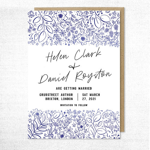 Floral Sketch Save the Date