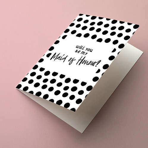 Dotty Maid of Honour card