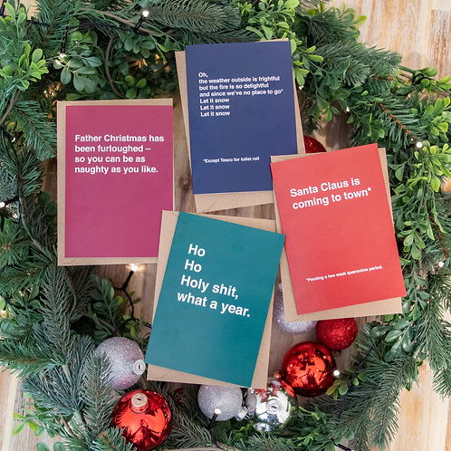 COVID Christmas cards   Pack of 4   Mix and Match options