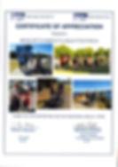 Biala Certificate of Appreciation Meredi
