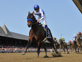 Woods Edge Farm graduate Drefong takes the G1. Forego S. in style