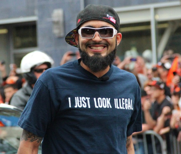Sergio Romo at SF Giants World Series Victory Parade