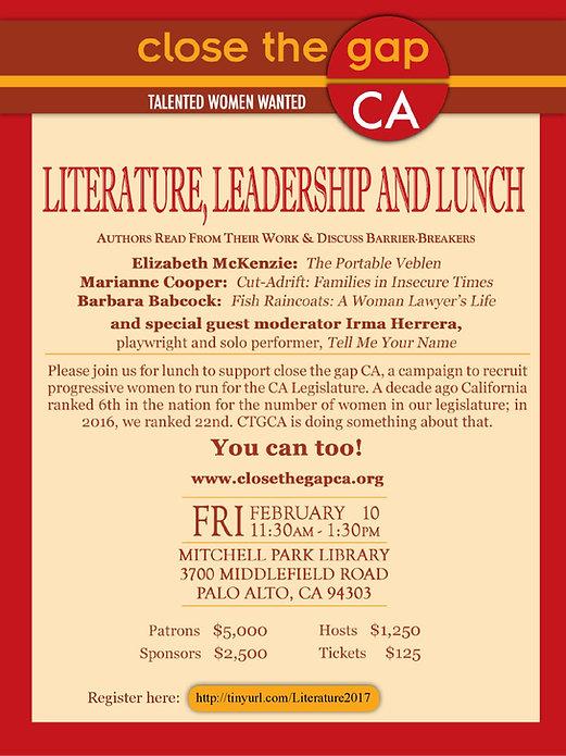 Irma Herrera Close the Gap CA California Literature Leadership Legisltature