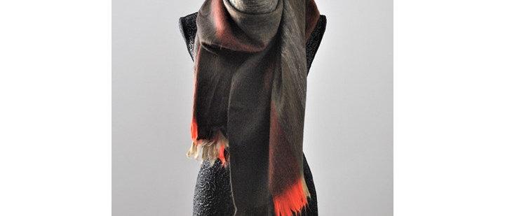 L'écharpe rayé d'alpaga