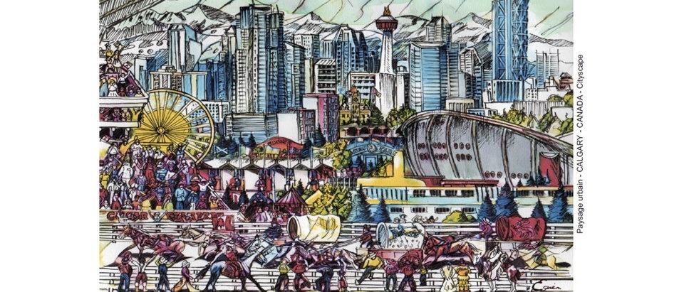 Ville de Calgary - Vue panoramique