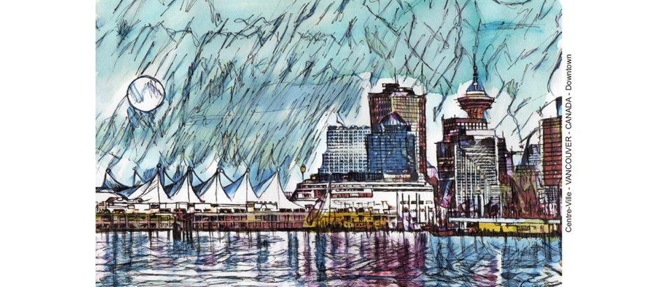 Ville de Vancouver - Vue panoramique