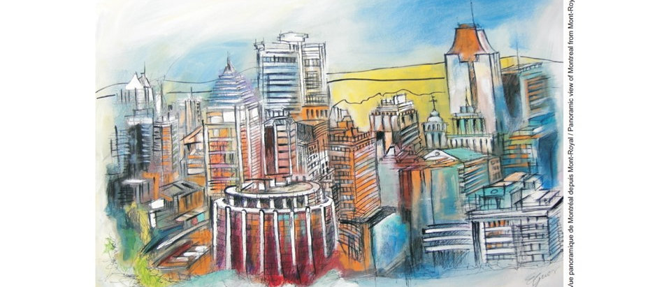 Ville de Montréal - Vue panoramique depuis Mont-Royal