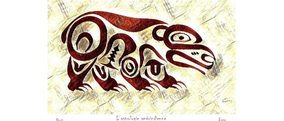 Ours - Animal totem de naissance amérindien