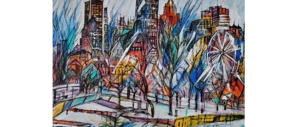 Vieux-Port de Montréal - Abstract