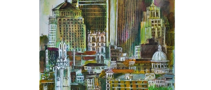 Montreal Cityscape - Collage