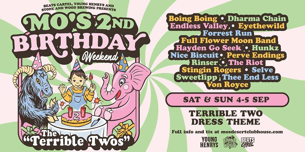 MO'S 2ND BIRTHDAY (DAY 1)