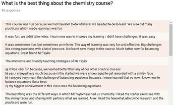 Student/Teacher Feedback