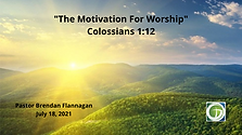 The Motivation for Worship