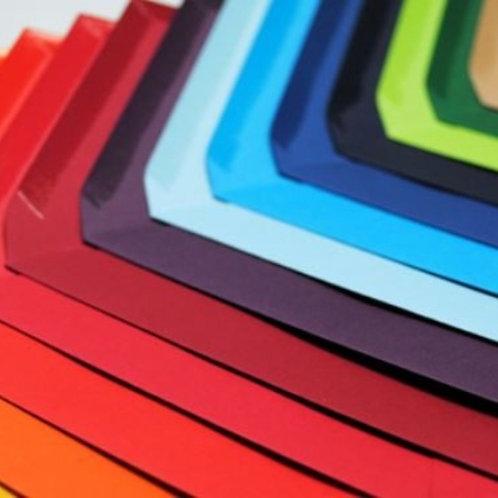 Sobres cuartilla color básico  140gr -  Texturizado