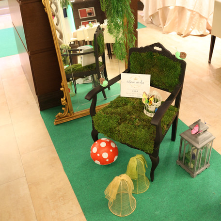 Silla tapizada en musgo natural
