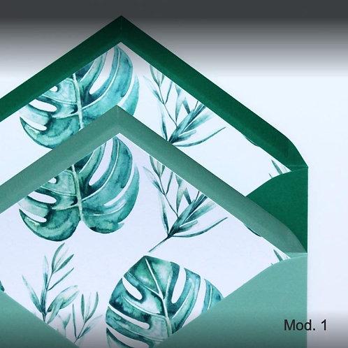 Sobres cuartilla color básico con forro  140gr -  Texturizado