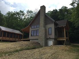 Finished log cabin