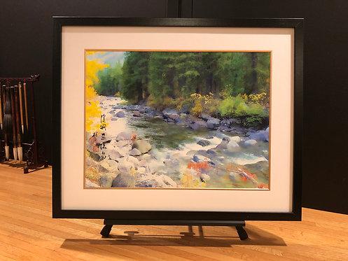 Framed Giclée Art Print - River Run