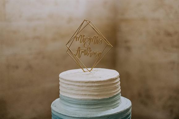 Modern Custom Cake Topper
