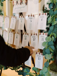 Clothespin Seating Chart