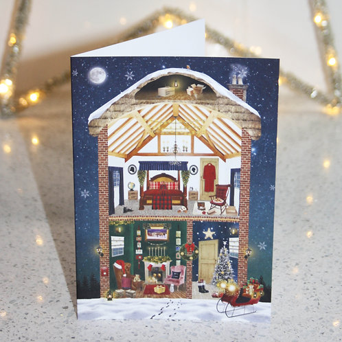"""Claus Cottage"" Card Front"