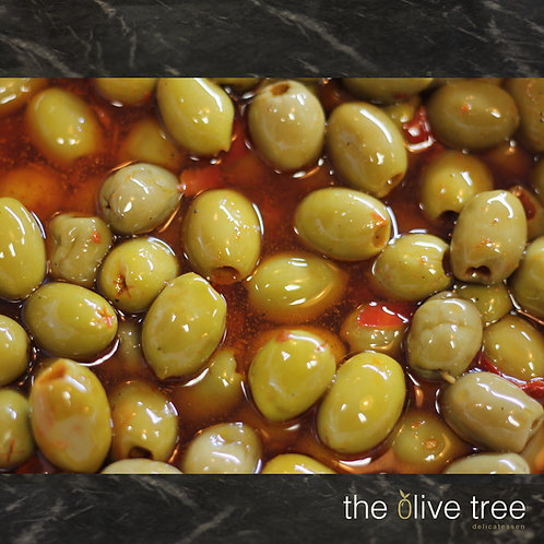 Olives marinaded with Chilli