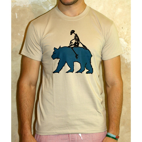 Unisex Sand Blue Bear T-shirt