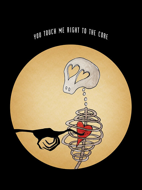 """You Touch Me Right To The Core"" Postcard"