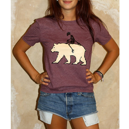 Unisex Maroon Sand Bear T-shirt