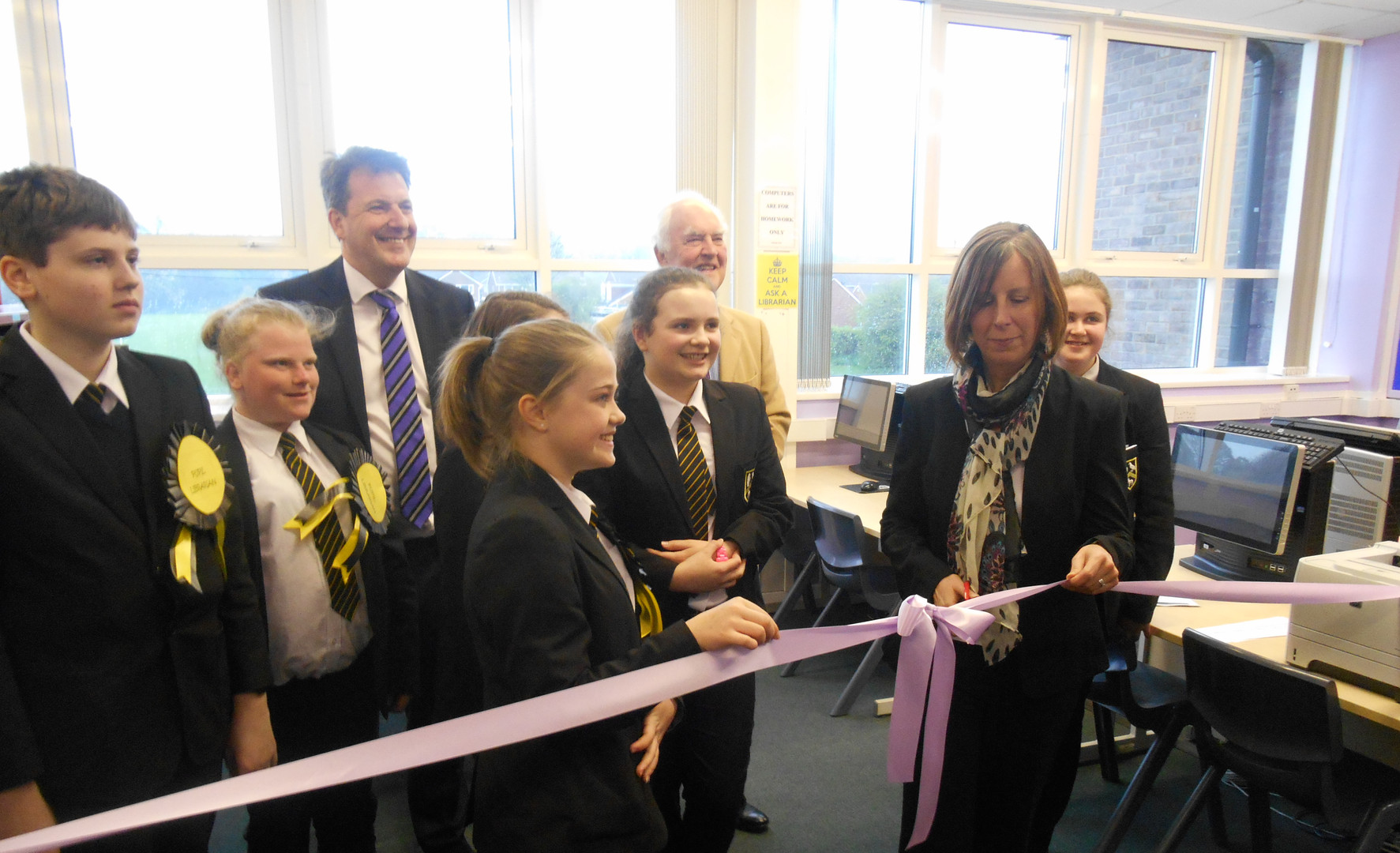 Opening the new Library at Park View Academy