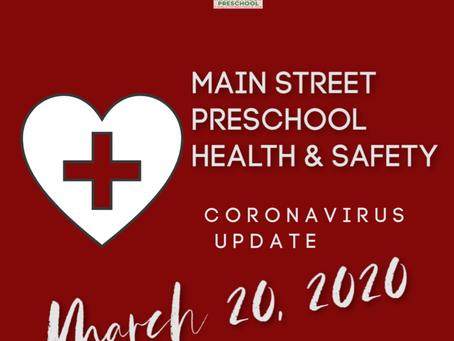 Update - March 20, 2020