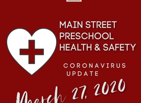Parent Update - March 27, 2020