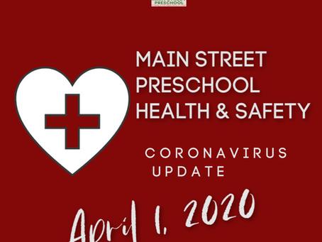 Parent Update -April 1, 2020