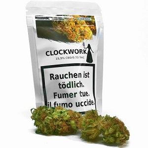 Gardinova Clockwork 5.5g. CBD Blüten