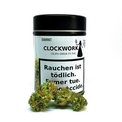 Gardinova Clockwork 18g. CBD Blüten (inkl. Rustschale)
