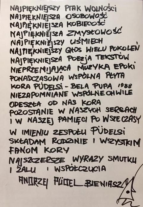 Odeszła Kora Wielka Gwiazda , Ikona Polskiej Sztuki , Piękny Człowiek  i Magiczna Osobowość