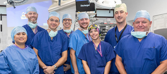 Group of medical staff at Liverpool Heart and Chest Hospital