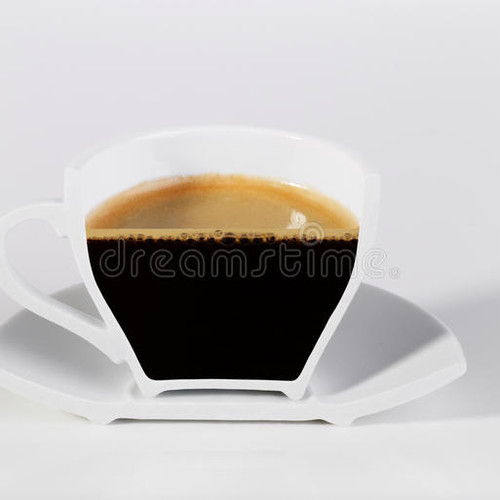 Half a cup of coffee