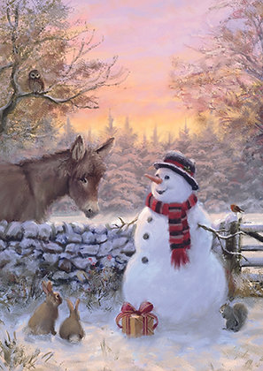 Donkey and Snowman