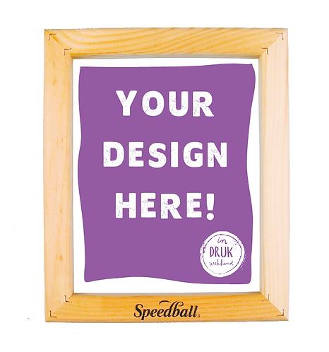 Voorbelicht zeefdrukraam met jouw ontwerp!