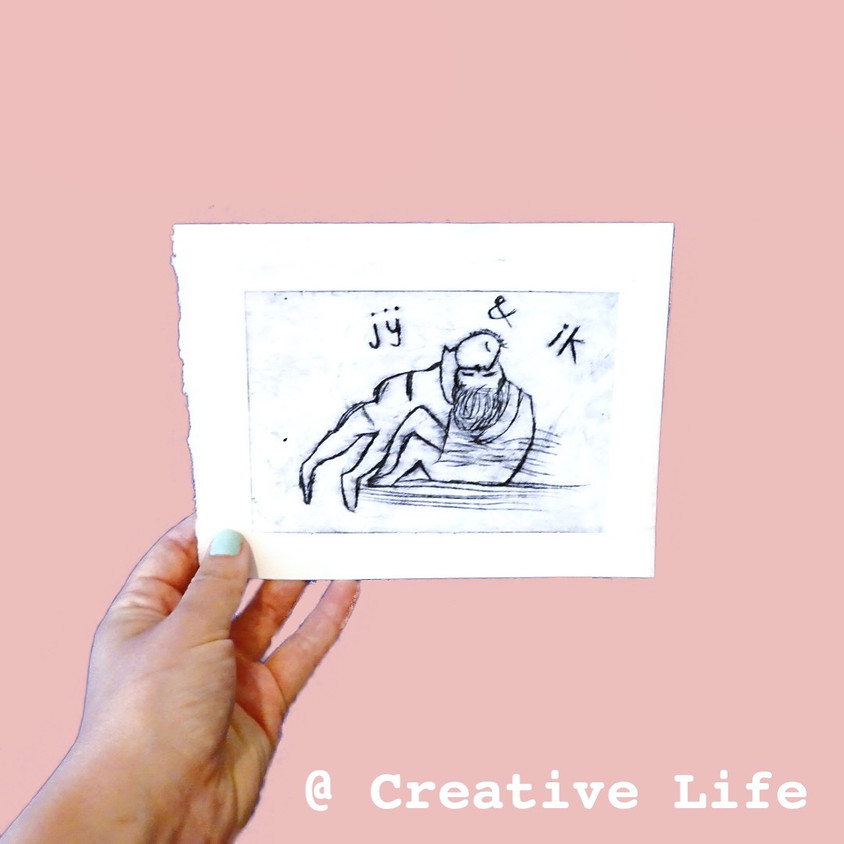 Etsen (droge naald techniek) @ Creative life