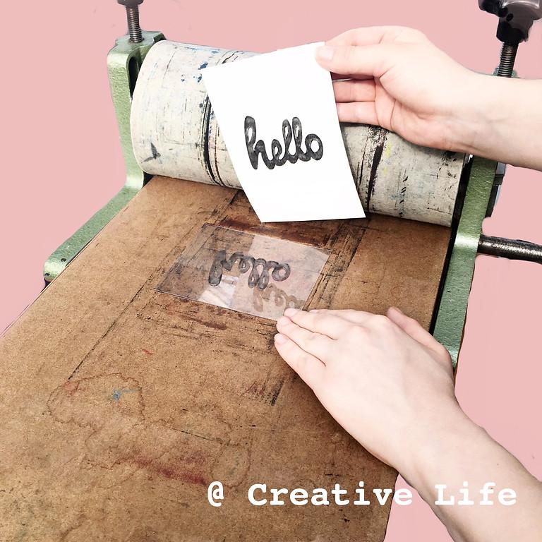 DIY Letterpress @ Creative life