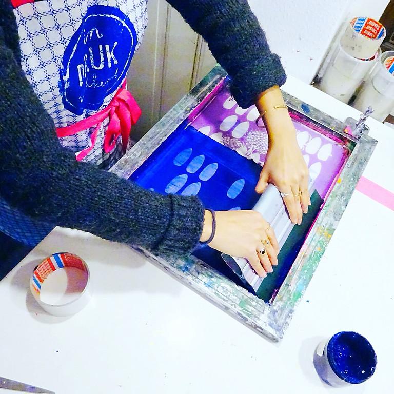 Workshop zeefdrukken