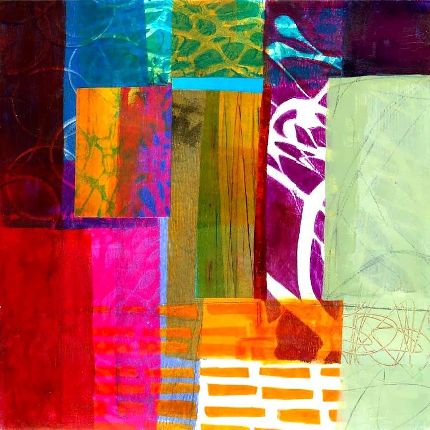 Workshop gelprinting en collage NIEUW!!