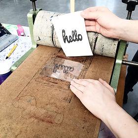 OP LOCATIE: DIY Letterpress