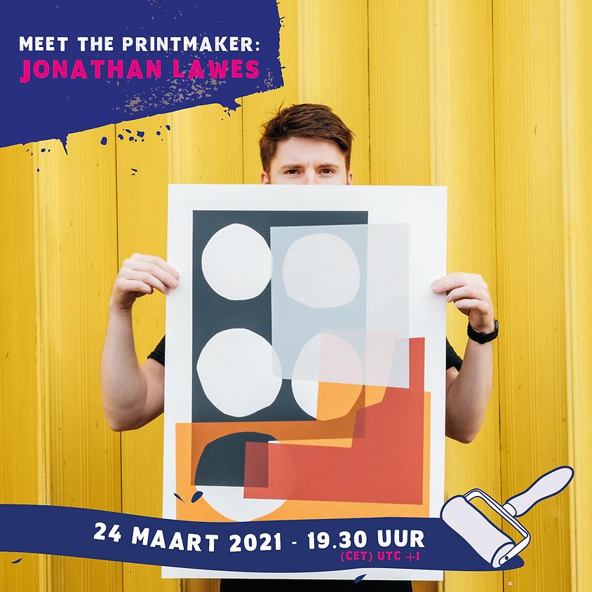 Meet the printmaker: Jonathan Lawes (Engels)